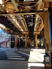 archetypical elevated tracks scene, somewhere in greater Lakeview hood.