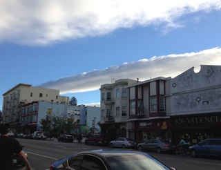 strange clouds in San Francisco - I was told these were caused by a recent Mexican hurricane.
