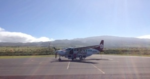 typical small plane at Kapalua airport, West Maui