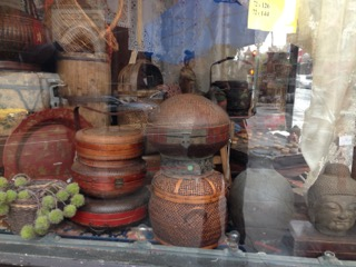 artifacts in shop window - pardon the glare.