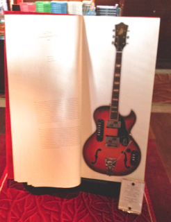 Here's a really mega-sized book on guitars, on sale for 999 Euros! For that amount, you could buy a real guitar, for Pete's sake. I wonder who the target market is for this book.